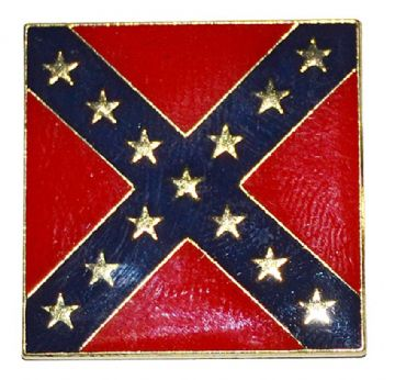 Confederate Square Flag Badge
